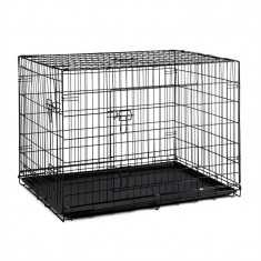ONECONCEPT PET CARGO L, Cutie de transport pentru câini, 71 x 77 x 106 cm, din metal, PVC DNO - Geanta si cusca transport animal