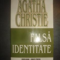 AGATHA CHRISTIE - FALSA IDENTITATE - Carte politiste