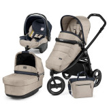 Carucior 3 In 1, Peg Perego, Book Scout, Matt Black, Pop-Up Elite, Peg Perego