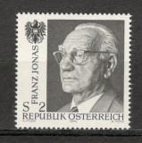 Austria. 1974 Moartea lui F.Jonas-presedinte  KZ.420