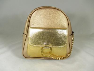 Rucsac/ghiozdan dama auriu+CADOU foto