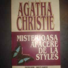 AGATHA CHRISTIE - MISTERIOASA AFACERE DE LA STYLES - Carte politiste