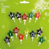 Lumanari pentru tort Happy Birthday, Amscan 170697