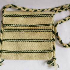 Straita traista traditionala din lana, 24x23 cm, etno, accesoriu costum popular