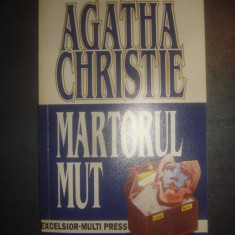 AGATHA CHRISTIE - MARTORUL MUT - Carte politiste