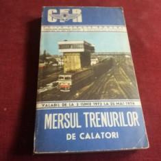 MERSUL TRENURILOR DE CALATORI 1973 - 1974 - Carti Transporturi