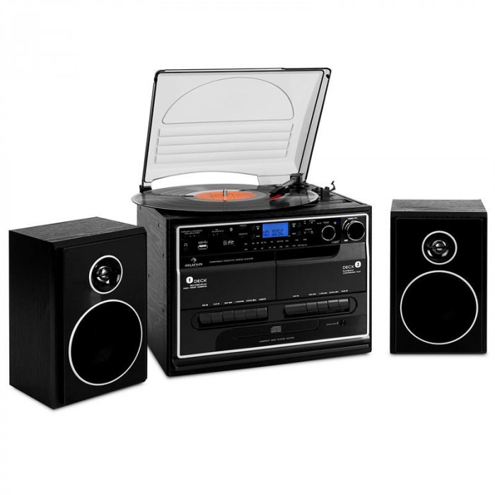 Sistem Stereo Auna 388-BT HiFi CD Bluetooth USB SD foto mare