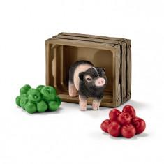 Set Figurina Schleich - Porc Pitic Cu Mere - Sl42292