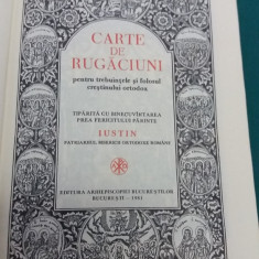 CARTE DE RUGĂCIUNI PENTRU TREBUINȚELE ȘI FOLOSUL CREȘTINULUI ORTODOX /1981 - Carte de rugaciuni