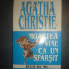 AGATHA CHRISTIE - MOARTEA VINE CA UN SFARSIT - Carte politiste