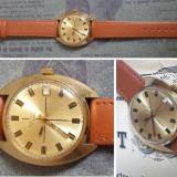 Ceas de colectie POLJOT 17J, placat cu aur, cal. 2614.2H, functional - Ceas barbatesc, Mecanic-Manual