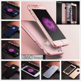 Husa iPhone 5 5S SE Fata Spate 360 Silver, iPhone 5/5S/SE, Argintiu, Plastic, Apple