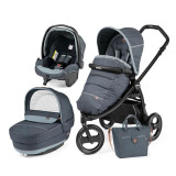 Carucior 3 In 1, Peg Perego, Book Scout, Matt Black, Elite Modular, Peg Perego