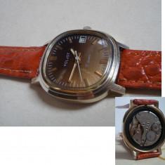Ceas de colectie Poljot, placat cu aur - Ceas barbatesc Poljot, Mecanic-Manual