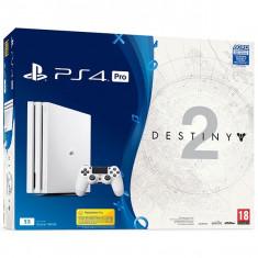 Consola Sony Playstation 4 Pro 1Tb Alb + Destiny 2 - Consola PlayStation