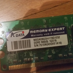Memorie DDR2 1Gb PC, 800 MHz, Second hand - Memorie RAM A-data, Dual channel
