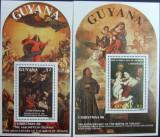 GUYANA - PICTURI-CRACIUN 88,  2 S/S,  NEOB.  -  E6123, Arta
