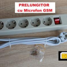 Prelungitor Spion/Spy cu Microfon GSM cu Activare Vocala, Transmitere Nelimitata - Camera spion