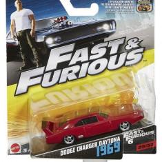 Masinuta Fast & Furious 8 Dodge Charger Daytona 1969 - Masinuta electrica copii Mattel