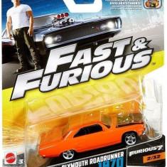 Masinuta Fast & Furious 8 Plymouth Roadrunner 1970 - Masinuta electrica copii Mattel