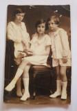 Fotografie veche, portret copii, sepia, studio, Budapesta