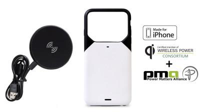 Husa Slim Freedy cu Incarcare Wireless pentru iPhone 6/6S + incarcator Wireless foto