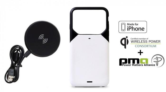 Husa Slim Freedy cu Incarcare Wireless pentru iPhone 6/6S + incarcator Wireless