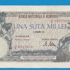 100000 lei 1946 20 decembrie 30 aUNC - Bancnota romaneasca