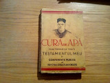 CURA DE APA * Cum Trebuie sa Traiti - Sebastian Kneipp - Ed. I.C. Hertz, 479 p.