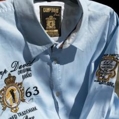 CHAMP DAVID camasa barbati nr.XL-XXL originala - Camasa barbati Abercrombie & Fitch, Culoare: Albastru, Maneca lunga
