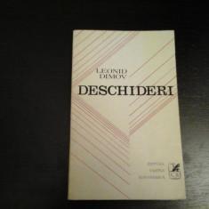 Deschideri - Leonid Dimov, Editura Cartea Romaneasca, 1972, 65 pag - Carte poezie