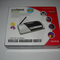 ROUTER WiFi EDIMAX MODEL BR-6204WG 802, 11g WIRELESS BROADBAND ROUTER SUPEROFERTA - Router wireless Edimax, Porturi LAN: 4, Porturi WAN: 1