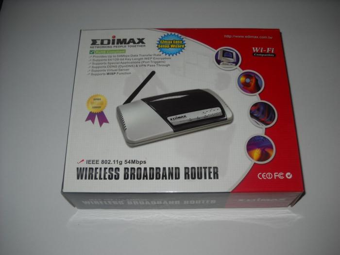 ROUTER WiFi EDIMAX MODEL BR-6204WG 802,11g WIRELESS BROADBAND ROUTER SUPEROFERTA