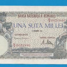 100000 lei 1946 20 decembrie 28 aUNC - Bancnota romaneasca