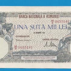 100000 lei 1946 20 decembrie 24 aUNC - Bancnota romaneasca