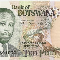 BOTSWANA 10 PULA 2002 UNC - bancnota africa
