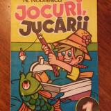 Jocuri, jucarii - N. Nobilescu / C57P - Carte de colorat