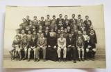 Fotografie veche tip carte postala, 1940, scoala de baieti, Banatia, Alb-Negru, Portrete, Romania 1900 - 1950