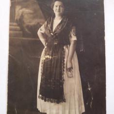 Fotografie veche, 1924, portret femeie, studio, nesemnata, Alb-Negru, Portrete, Europa