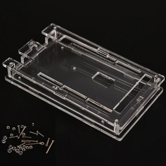 Carcasa Arduino MEGA 2560 R3 / Case enclosure transparent acrylic box (a.443)