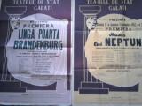 Afișe premiera Teatrul de Stat Galati, unul cu o dedicație de la Gina Patrichi