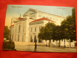 Ilustrata - Turnu Severin -Teatrul National 1928  ,color, Ed.M.Lewenstein, Circulata, Printata