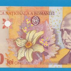 5000 lei 1998 UNC FILIGRAN MARE - Bancnota romaneasca