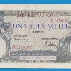 100000 lei 1946 20 decembrie 27 aUNC - Bancnota romaneasca