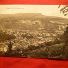Ilustrata Sighisoara circulat 1914 Ed.Fritz Teutsch - Carte Postala Transilvania 1904-1918, Circulata, Printata