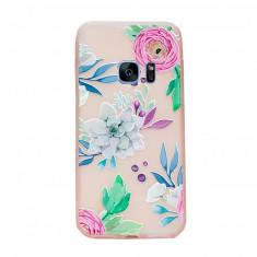 Husa Samsung Galaxy S7 Soft TPU 3D relief - Husa Telefon, Transparent