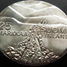 MONEDA COMEMORATIVA ARGINT 25 Markaa - FINLANDA, anul 1978 *cjaCOD 62 --- UNC!, Europa