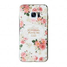 Husa silicon 3d relief pentru Samsung Galaxy S7 Edge - Husa Telefon, Rosu
