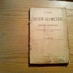 CURS DE DESEN GEOMETRIC cu Aplicatii Industriale - G. C. Stanilescu - Iasi, 1924
