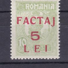 "1928 - ""Factaj 5 lei"" - supratipar pe tipografiate - MNH - Timbre Romania, Regi, Nestampilat"